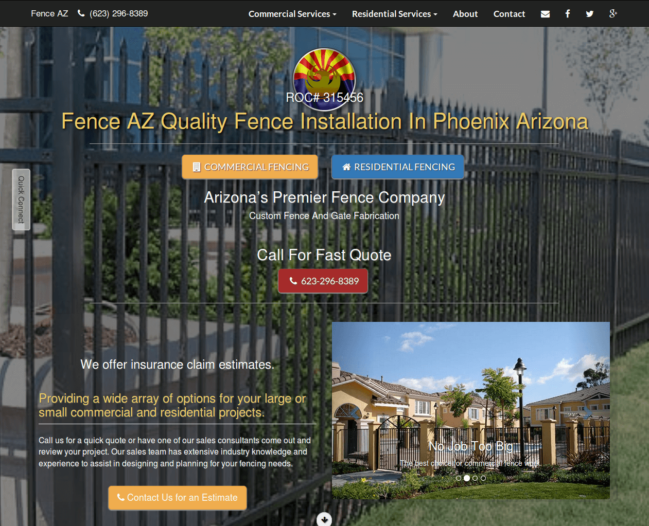Arizona fence builder