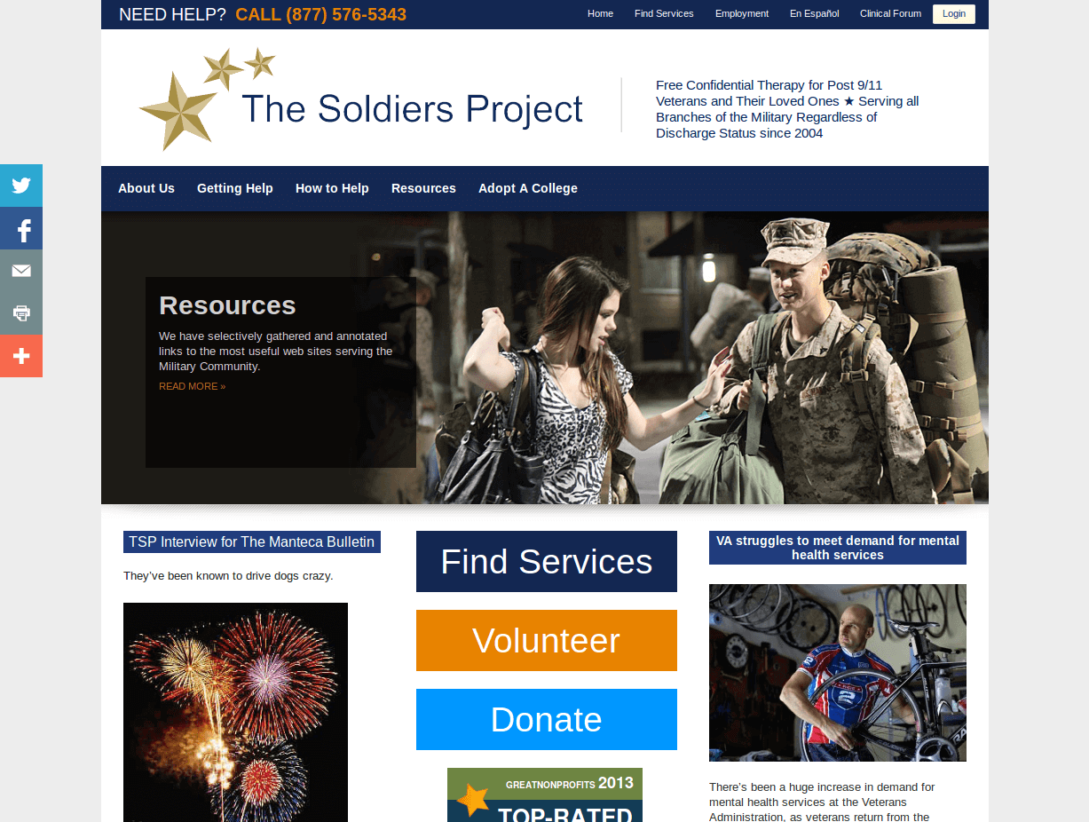 soldiers support project